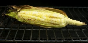 summertime bbq grilled sweet corn on the cob
