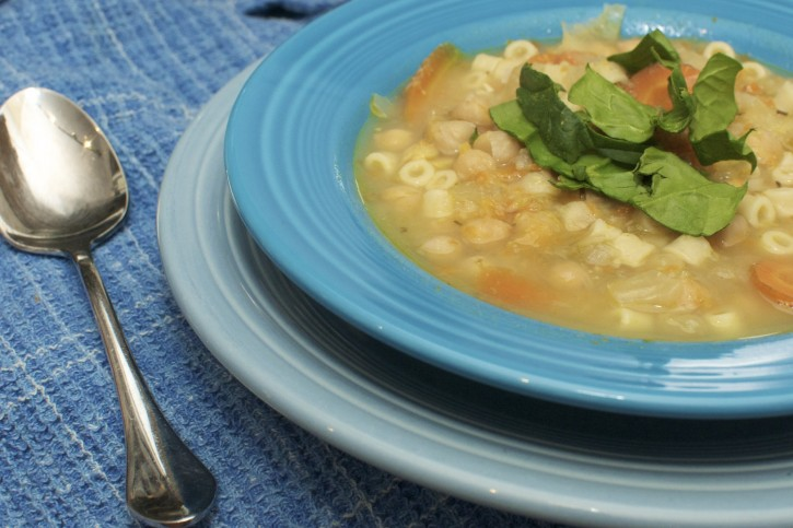 Soup in fiestaware from cubits organic living