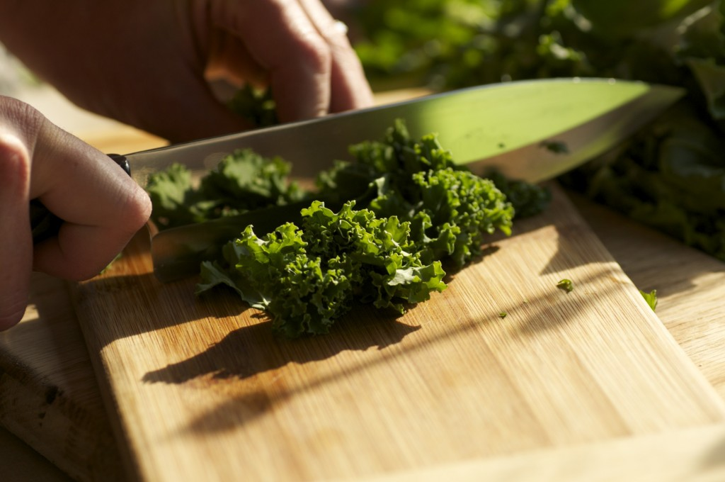 Chopping Kale from www.CubitsOrganics.com