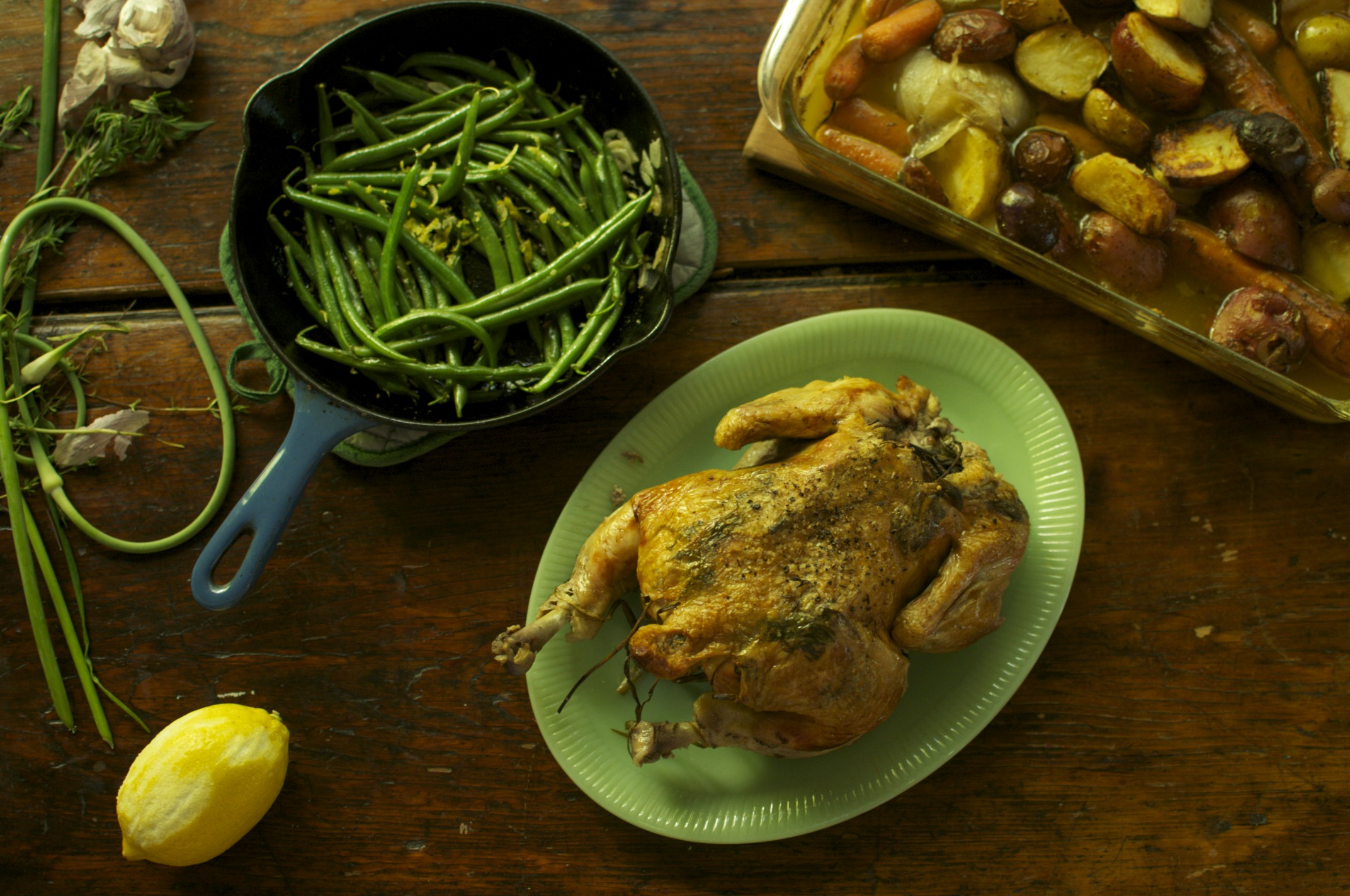Roasted Chicken with Apples and Cider