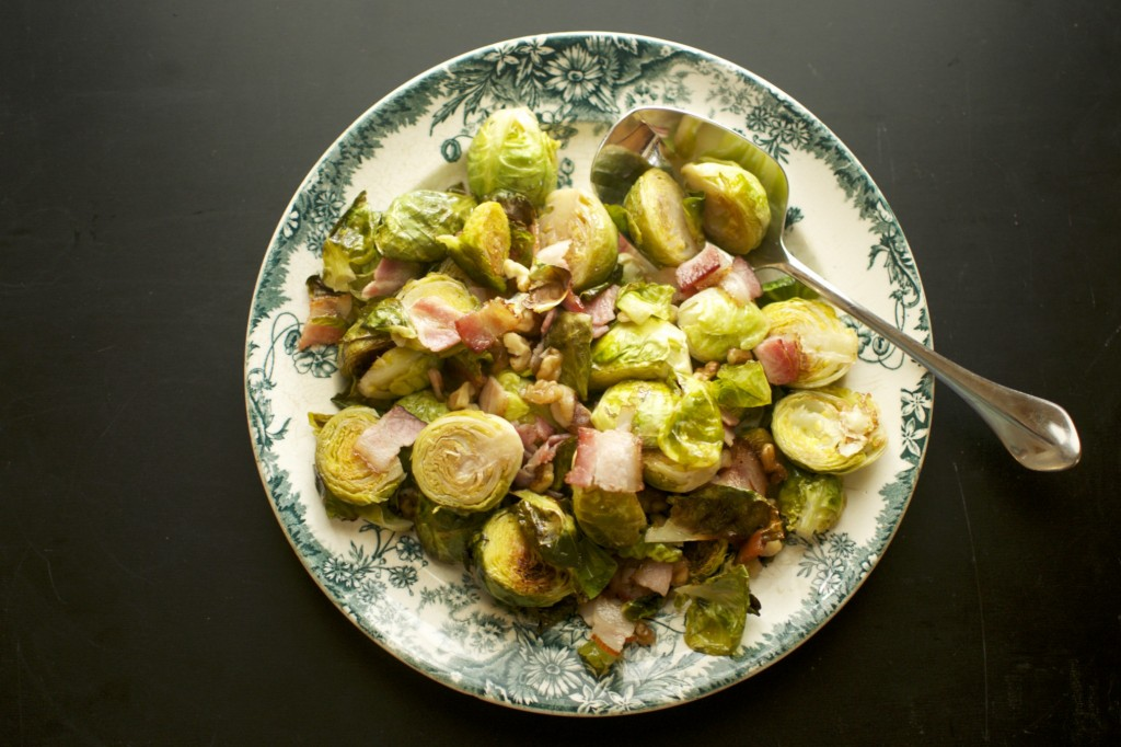 Brussels Sprouts with Bacon and Walnuts www.cubitsorganics.com