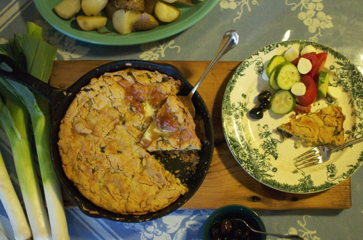 Spring Spanakopita with a Gluten Free Crust