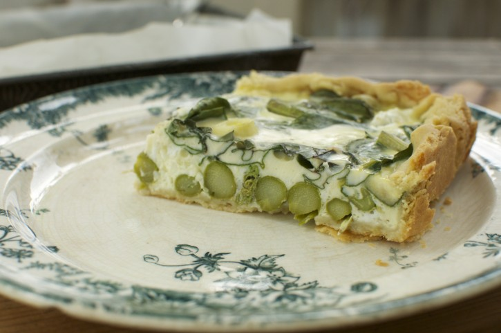 Fiddlehead Quiche with Cottage Cheese