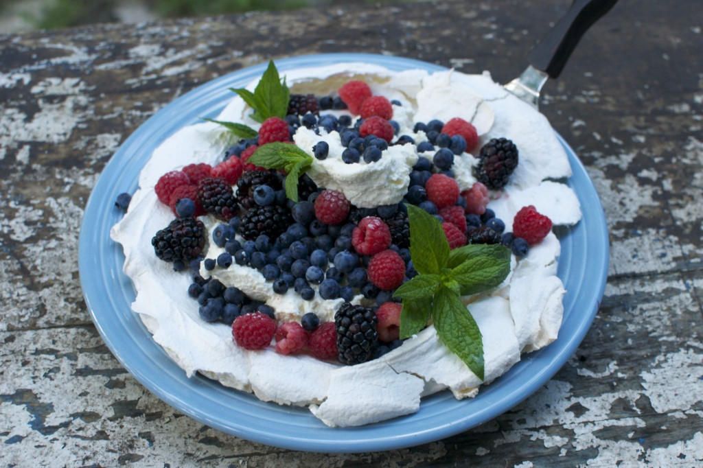 meringue with berries and whipped cream www.cubitsorganics.com