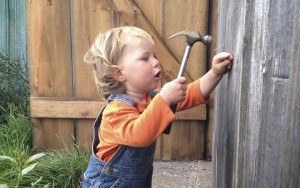 Toddler Robin with hammer www.CubitsOrganics.com